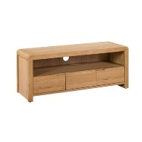 Julian Bowen Curve Oak TV Unit