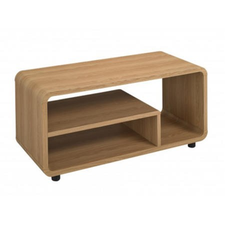 LPD Curve TV Stand in Oak
