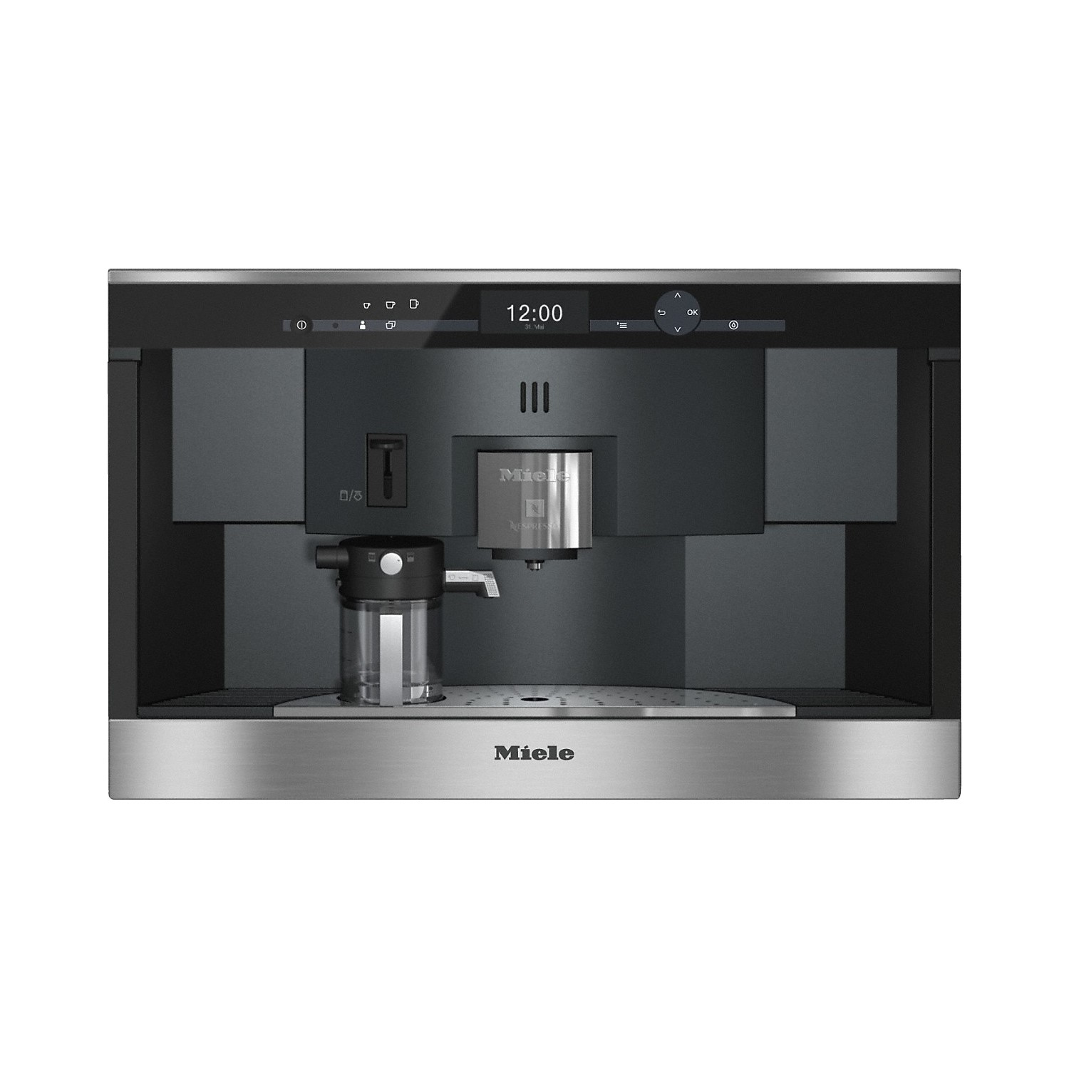 miele cva6431clst nespresso capsule builtin coffee machine steel
