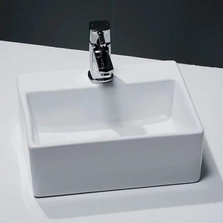 small cloakroom countertop sink 0 tap holes cvb014. Black Bedroom Furniture Sets. Home Design Ideas