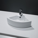 Small Cloakroom Countertop Corner Sink - 1 Tap Hole