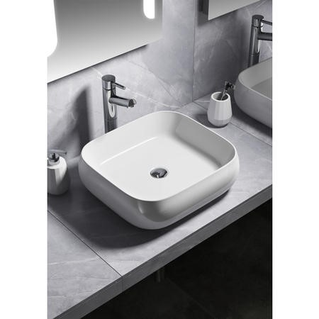 Curved Countertop Sink - 0 Tap Holes