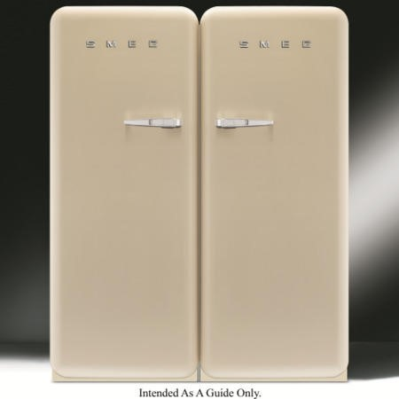 Smeg CVB20RP1 50's Retro Style Right Hand Hinge Freestanding 60cm Wide Freezer - Cream