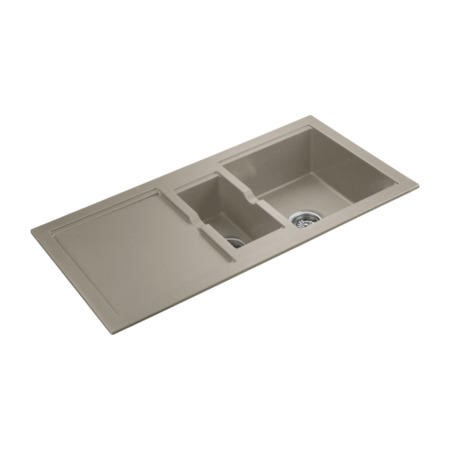Rangemaster CX9852GM Cubix 985x508 1.5 Bowl Reversible Granite Oatmeal Sink