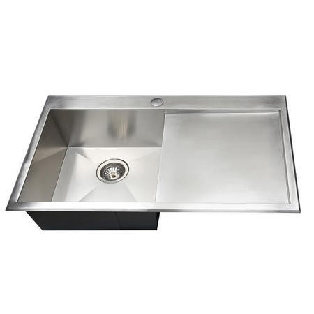 GRADE A2 - Taylor & Moore CharlesR Single Bowl Right Hand Drainer Stainless Steel Kitchen Sink