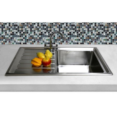Taylor & Moore Como Single Bowl Reversible Drainer Stainless Steel Sink