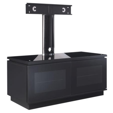 MMT Diamond D1120 Black TV Cabinet with Cantilever - Up to 50 Inch