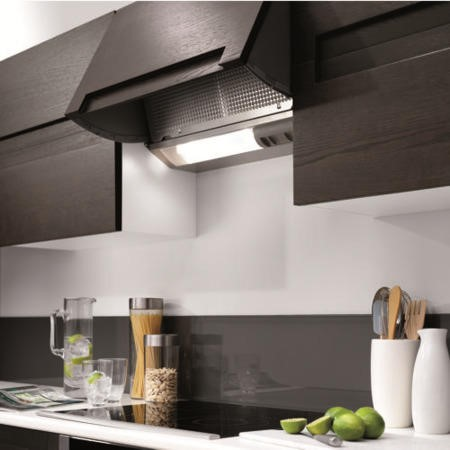 Neff D2664X0GB 60cm Integrated Cooker Hood Silver Metallic