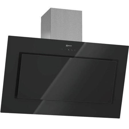 Neff D39E49S0GB Angled 90cm Chimney Cooker Hood With Black Glass Canopy
