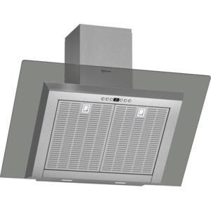 Neff D39GL64N0B Angled 90cm Chimney Cooker Hood With Grey Glass Canopy Stainless steel