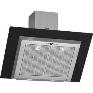 Neff D39GL64S0B 90cm Angled Chimney Cooker Hood With Black Glass Canopy Stainless Steel