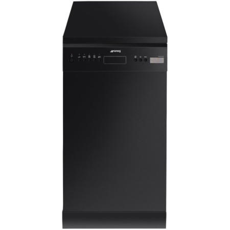 Smeg D4B-1 45cm Slimline Freestanding 10 place Dishwasher Black