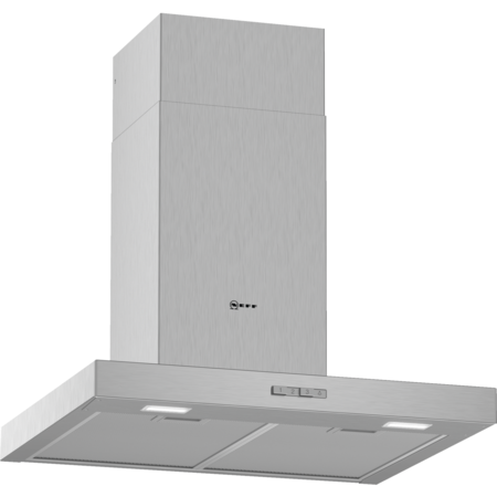 Neff D62BBC0N0B N30 60cm Chimney Cooker Hood With Flat Canopy - Stainless Steel