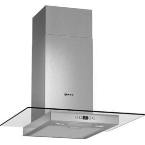 Neff D86EH52N0B 60cm Chimney Cooker Hood With Flat Glass Canopy Stainless Steel