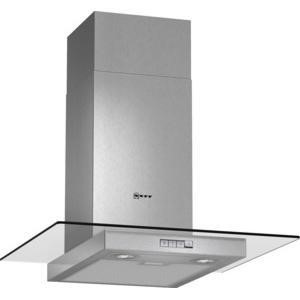 Neff D86ER22N0B 60cm Stainless Steel Chimney Cooker Hood With Flat Glass Canopy