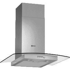 Neff D86GR22N0B 60cm Stainless Steel Chimney Cooker Hood With Curved Glass Canopy