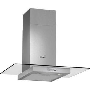 Neff D87ER22N0B 70cm Stainless Steel Chimney Cooker Hood With Flat Glass Canopy
