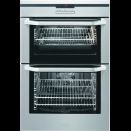 AEG D8810-6-M Digital Multifunction Electric Built In Double Oven - Stainless Steel