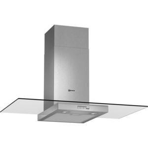 Neff D89ER22N0B 90cm Stainless Steel Chimney Cooker Hood With Flat Glass Canopy