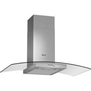 Neff D89GR22N0B 90cm Stainless Steel Chimney Cooker Hood With Curved Glass Canopy