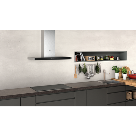 Neff D94BHM1N0B N50 90cm Touch Control Box Design Cooker Hood - Stainless Steel