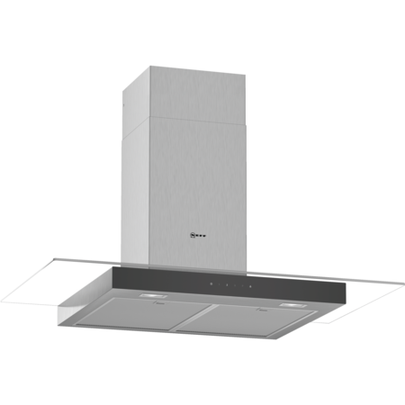 Neff D94GFM1N0B 90cm Touch Control Chimney Cooker Hood With Flat Glass Canopy - Stainless Steel