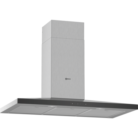 Neff D94QFM1N0B N50 90cm Low Profile Chimney Cooker Hood - Stainless Steel