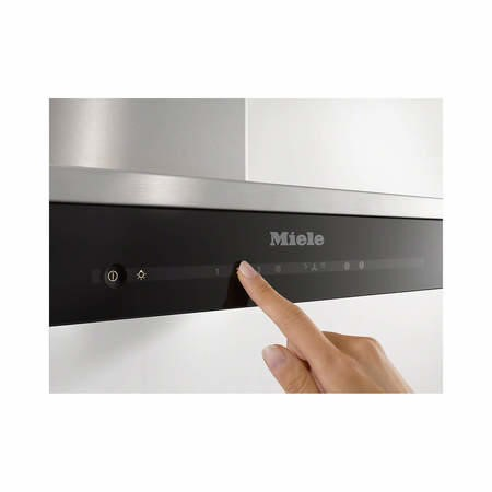 Miele DA6690Wclst DA6690W Gen6000 Low Profile 90cm Wide Chimney Cooker Hood CleanSteel