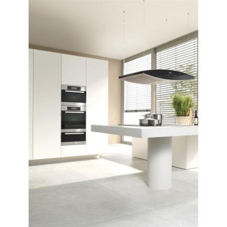 Miele DA7006D Aura Touch Control 100cm Island Cooker Hood White And Black