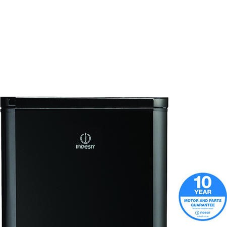 GRADE A2 - Indesit DAA55NFK1 255L Freestanding Fridge Freezer Black