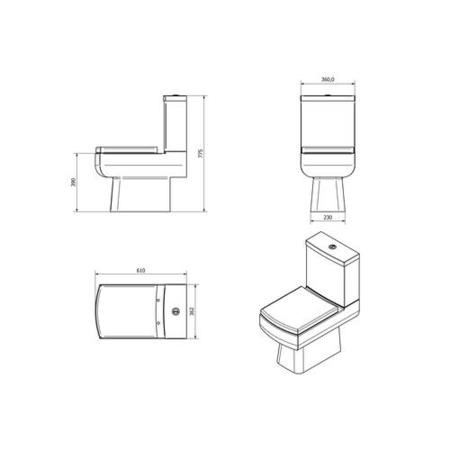 Delta Close Coupled Toilet with Soft Close Seat