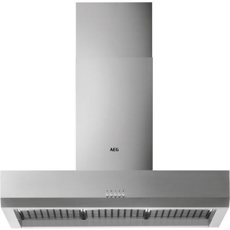 AEG DBB2160M 100cm Stainless Steel Box Wall Chimney Hood - Electronic Push Buttons - Halogen Lamps -