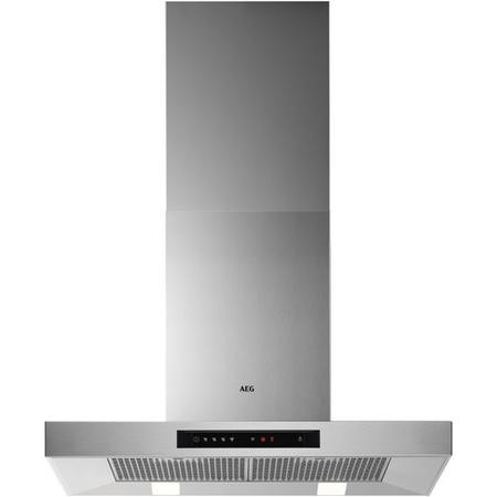GRADE A2 - AEG DBB5760HM 70cm Stainless Steel Wall Mounted Box Chimney Hood with Touch Controls