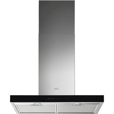 AEG DBE5761HG 70cm Flat Chimney Cooker Hood With Hob2Hood - Stainless Steel