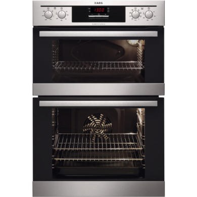 77257782/1/DC4013021M GRADE A2 - Light cosmetic damage - AEG DC4013021M Stainless Steel Electric Built-in Double Oven