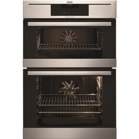 GRADE A2 - AEG DC7013021M Competence Electric Built-in Double Oven Stainless Steel