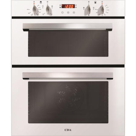 CDA DC740WH Electric Built Under Fan Double Oven With Touch Control Timer - White