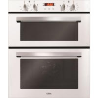 CDA DC740WH Electric Built-under Fan Double Oven With Touch Control Timer - White