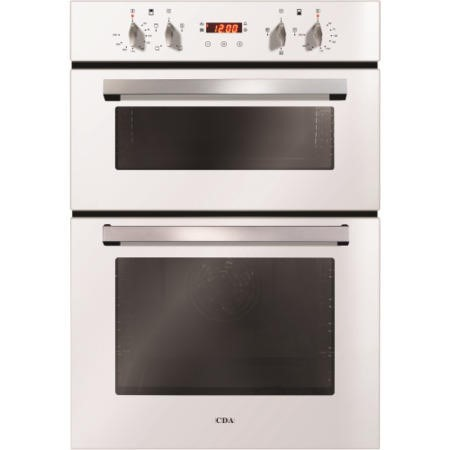 CDA DC940WH Electric Built-in Fan Double Oven With Touch Control Timer - White