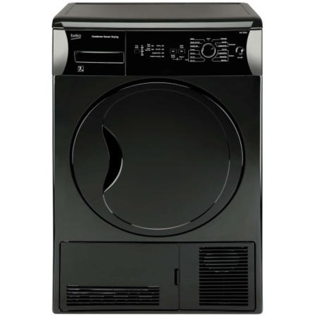 GRADE A1 - As new but box opened - BEKO DCU7230B Sensor Driven 7kg Freestanding Condenser Tumble Dryer - Black