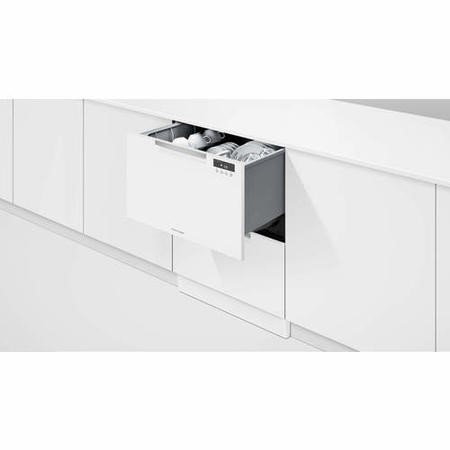 Fisher & Paykel DD60DAHX9 12 Place Semi Integrated Double DishDrawer™ Dishwasher - EZKleen Steel