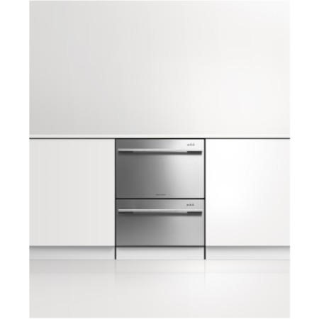 Fisher & Paykel DD60DDFHX7 89474 12 Place Integrated Double Dishdrawer With EZKleen Stainless Steel Door