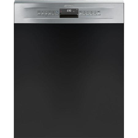 Smeg DD612 12 Place Semi Integrated Dishwasher - Stainless Steel Control Panel