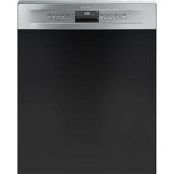 Smeg DD612 Cucina 12 Place Semi Integrated Dishwasher - Finger-friendly Stainless Steel Panel