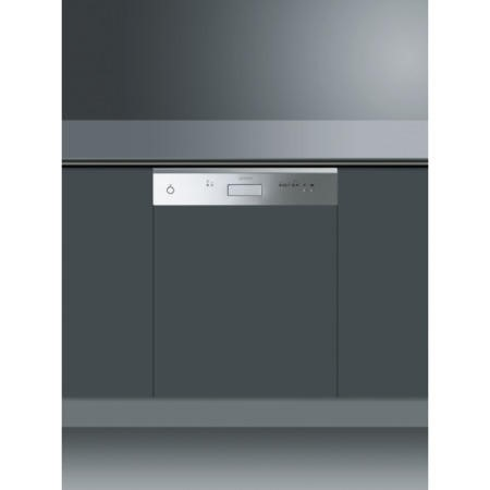 Smeg DDC6-1 Cucina 12 Place Semi Integrated Dishwasher - Finger-friendly Stainless Steel Panel