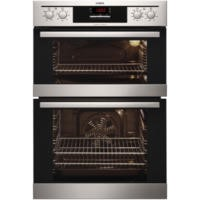 AEG DE401301DM Electric Built-in Fan Double Oven Stainless Steel