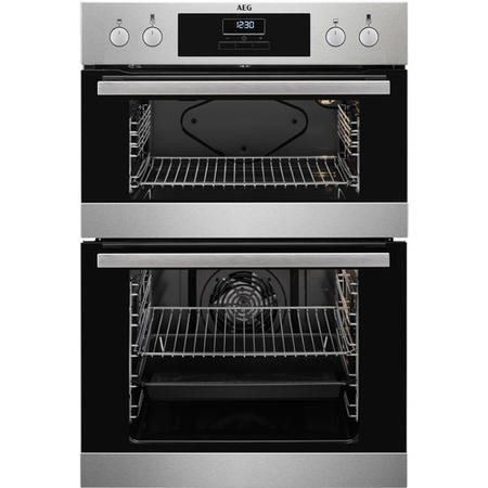 AEG DEB331010M Multifunction Electric Built In Double Oven - Anti-fingerprint Stainless Steel