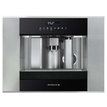 De Dietrich DED1140X Automatic Integrated Coffee Machine In Black And Stainless Steel
