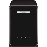 Smeg DF13FAB3BL 50's Style 13 Place Freestanding Dishwasher - Black Best Price, Cheapest Prices