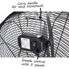 "GRADE A1 - 24"" High velocity portable fan - Black"
